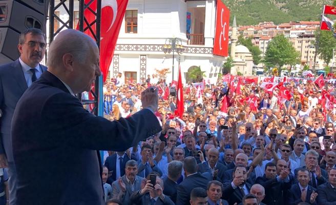 MHP Lideri Bahçeli: Suriye'nin kuzeyinde acilen güvenli bölge kurulmalıdır.