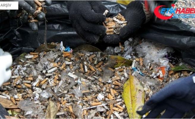 Sigara izmaritleri en yaygın zararlı atık