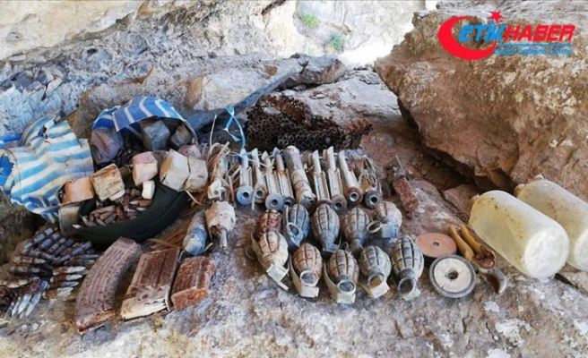 Şırnak'ta PKK'lı teröristlere ait mühimmat bulundu