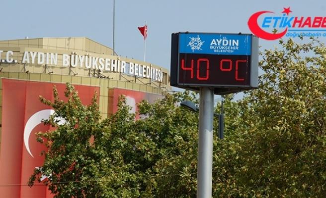 Aydın'da nemle birlikte sıcak hava bunaltıyor