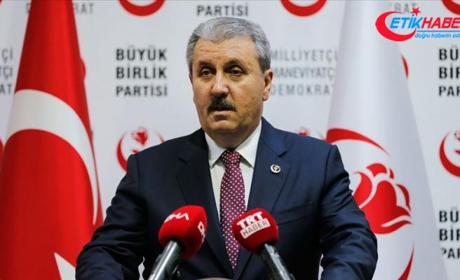 BBP Genel Başkanı Destici: Şehitlerimizin kanı siyasi bölücülerin ellerinde de var