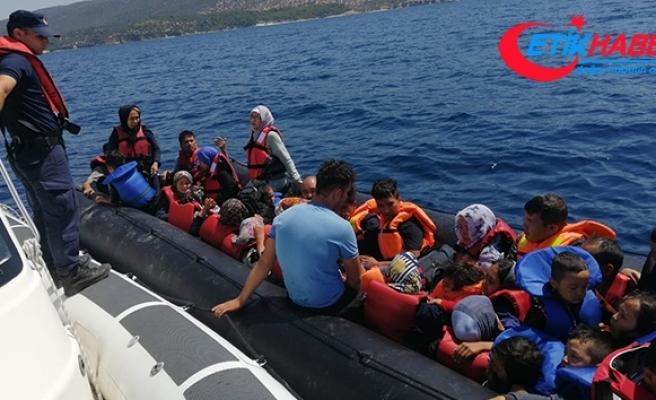 Didim'de 41 düzensiz göçmen yakalandı
