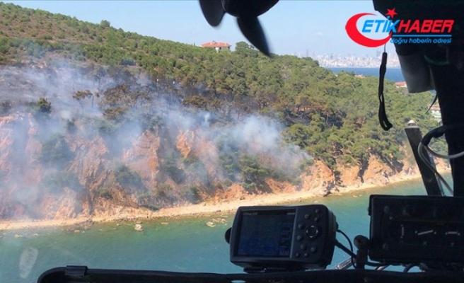 Marmara Adası ile Burgazada'da orman yangını