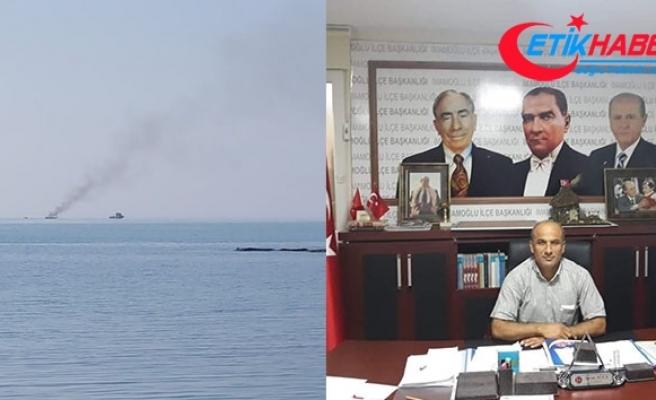 MHP'li başkan teknedeki yangında yaralandı