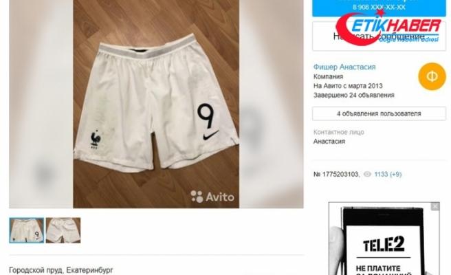 Olivier Giroud'un şortu Rusya'da 15 bin euroya satıldı