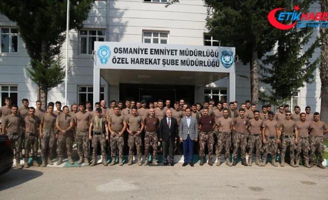 Osmaniye'den özel harekat polisleri Hakkari'ye uğurlandı
