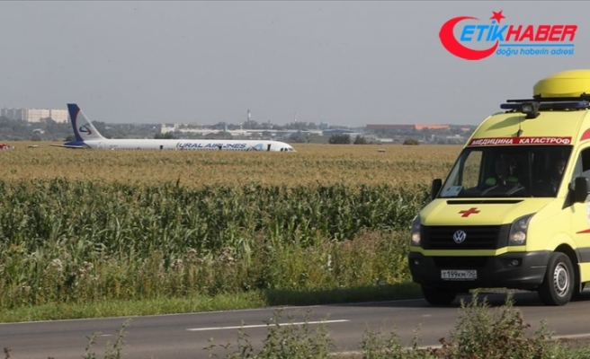 Rusya'da kuş sürüsüne çarpan yolcu uçağı tarlaya acil iniş yaptı
