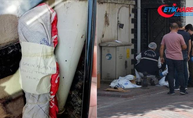 'Sakın açmayın' yazılı çuvalda 5 el bombası ve lav silahı bulundu