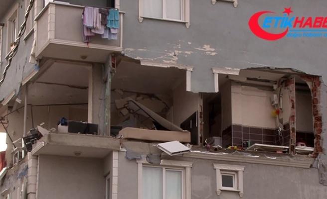 Sancaktepe'de dairede patlama :1 yaralı