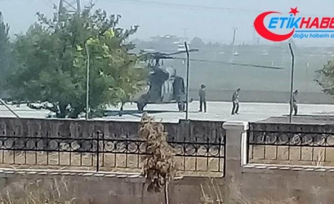 Suriye sınırında devriye uçuşları devam ediyor