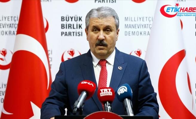 BBP Genel Başkanı Destici: Teröre destek veren siyasi parti kapatılır
