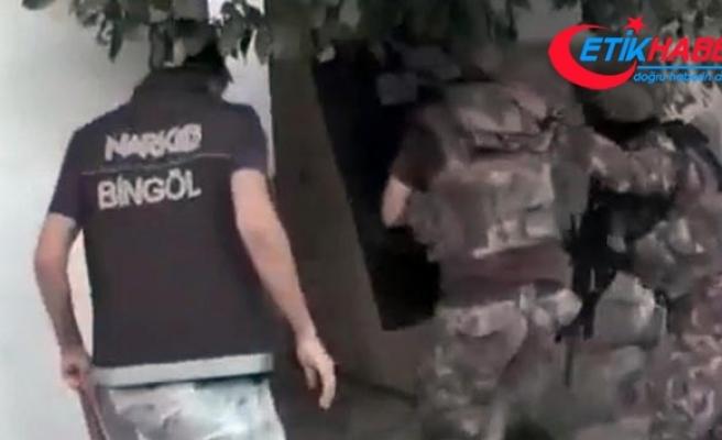 Bingöl'de 250 polisin katılımıyla uyuşturucu operasyonu: 28 gözaltı