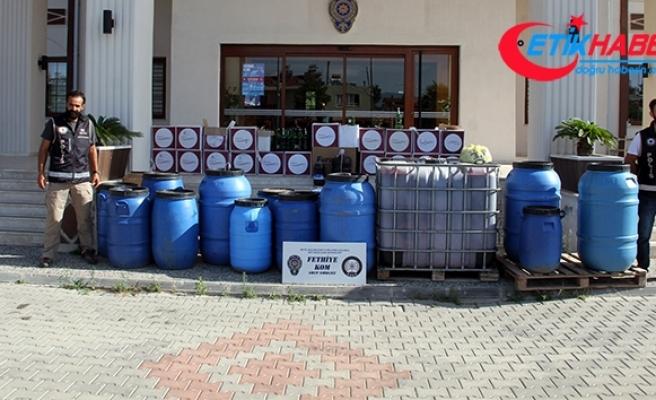 Fethiye'de 2 bin 400 litre sahte şarap ele geçirildi