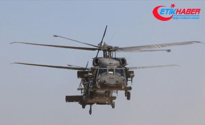 Fırat'ın doğusunda yedinci ortak helikopter uçuşu
