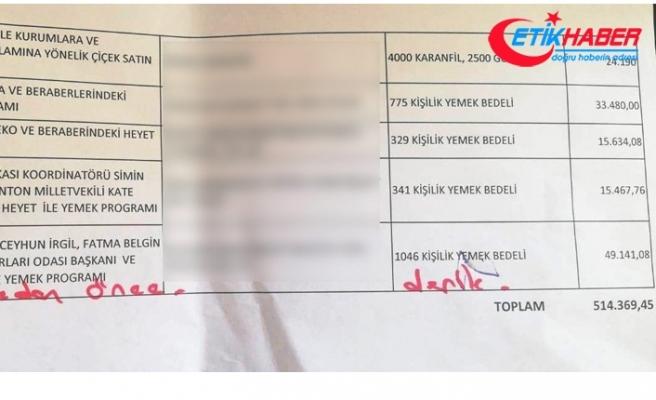 HDP'li Türk döneminde belediyenin özel kalem bütçesinden 514 bin lira harcanmış