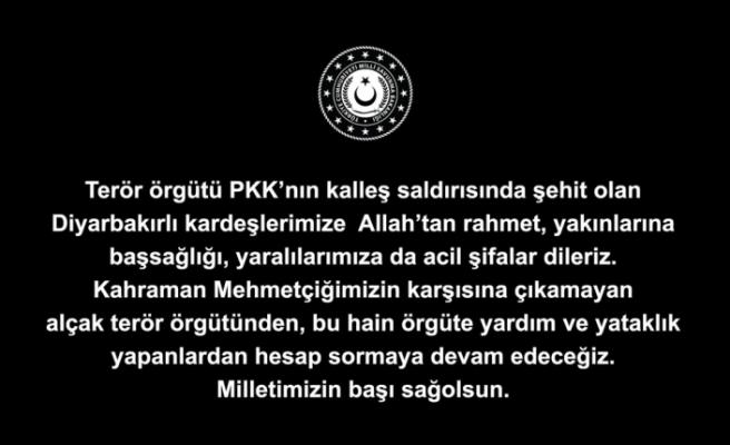 Milli Savunma Bakanlığından Diyarbakır paylaşımı
