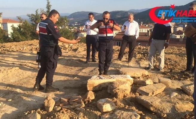 Okul inşaatından Roma mezarı çıktı