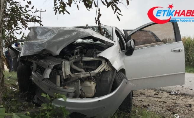 Sakarya'da otomobil ağaca çarptı: 3'ü ağır 5 yaralı