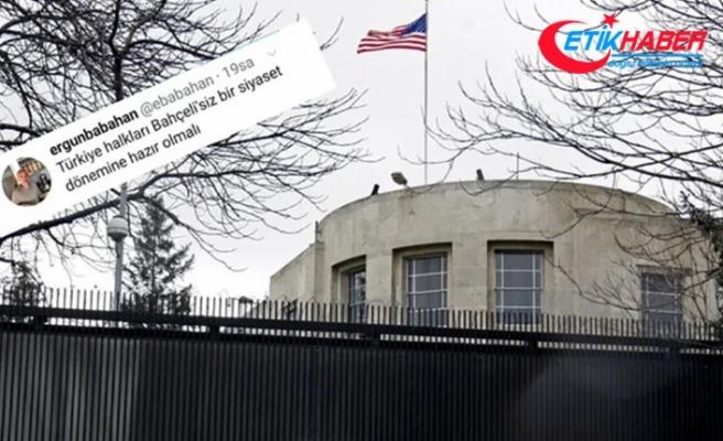 ABD Büyükelçiliği FETÖ firarisi hain Babahan'ın MHP Lideri Bahçeli tweetini beğendi!