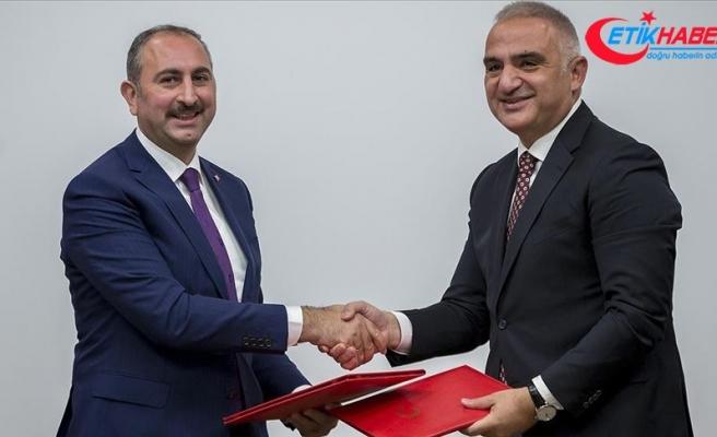 Adalet Bakanlığı ile Kültür ve Turizm Bakanlığı arasında iş birliği
