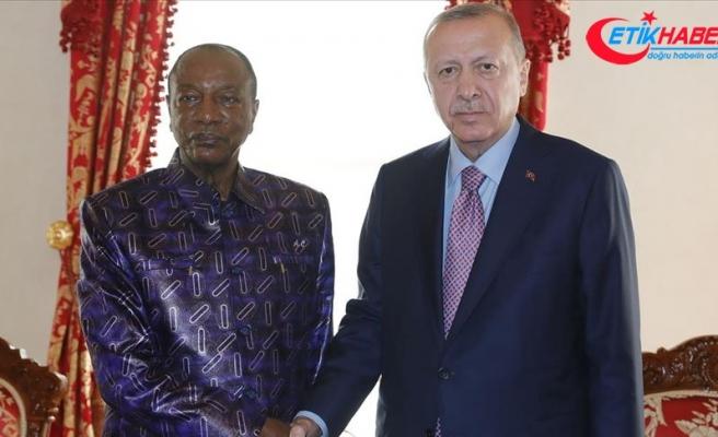Cumhurbaşkanı Erdoğan, Gine Cumhurbaşkanı ile görüştü