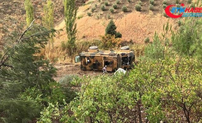 Kahramanmaraş'ta zırhlı askeri araç devrildi: 4 yaralı