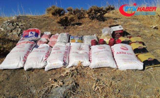 Teröristlere ait 650 kilogram yaşam malzemesi ele geçirildi