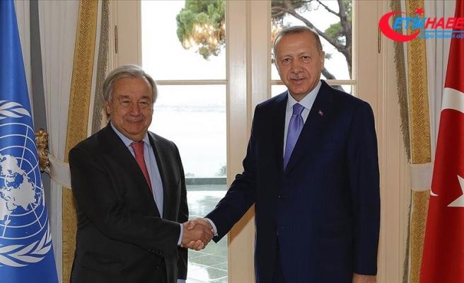 Cumhurbaşkanı Erdoğan BM Genel Sekreteri Guterres'i kabul etti