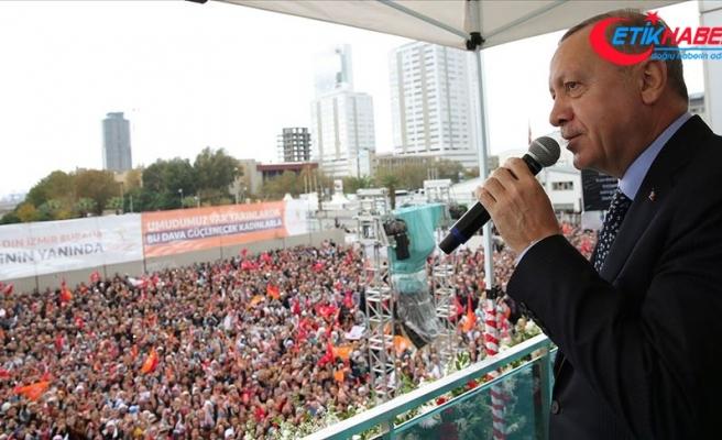 Erdoğan: Ben cumhurbaşkanlığımı ortaya koyuyorum sen genel başkanlığını ortaya koyabiliyor musun?