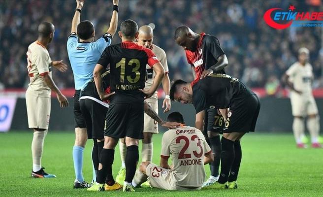 Galatasaraylı Andone'nin sağ diz iç yan bağında yırtık tespit edildi