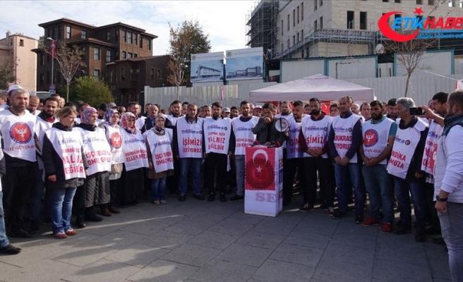 İBB'de işten çıkarılan işçiler imza kampanyası başlattı