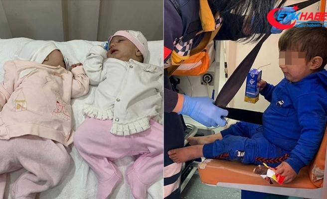 Konya'da sokağa terk edilmiş iki bebek ile bir çocuk bulundu