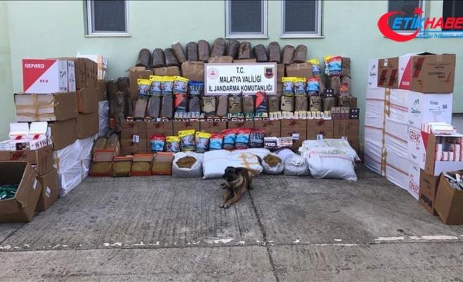 Malatya'da 6 ton kaçak tütün ele geçirildi