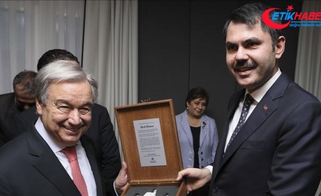 Bakan Kurum: 'Guterres iklim değişikliği müzakerelerinde Türkiye'yi destekliyor'