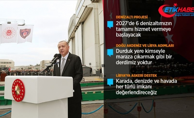Cumhurbaşkanı Erdoğan: Türkiye attığı adımlardan kesinlikle geri dönmeyecektir