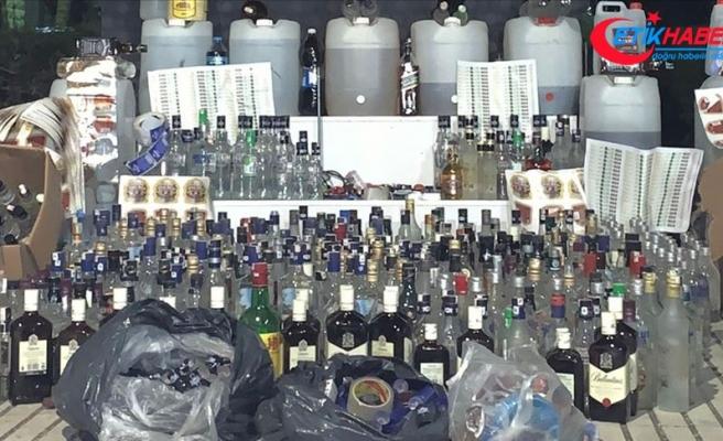 Hatay'da 427 şişe kaçak içki ele geçirildi