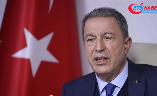 Milli Savunma Bakanı Akar: TSK'nın kahraman ve fedakar evlatları dünya barışına katkı sağlamaya devam edecektir