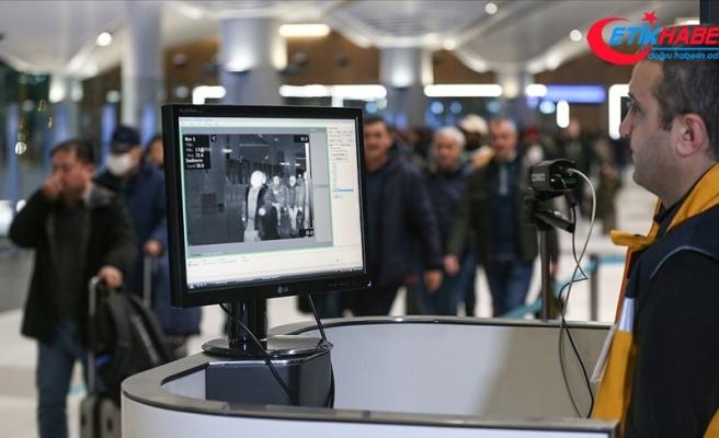 Çin'den gelen yolcular İstanbul Havalimanı'nda termal kameralarla kontrol edildi