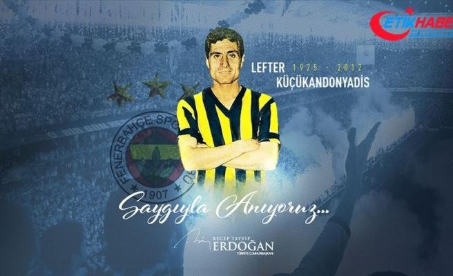 Erdoğan, vefatının yıl dönümünde 'Lefter Küçükandonyadis'i andı
