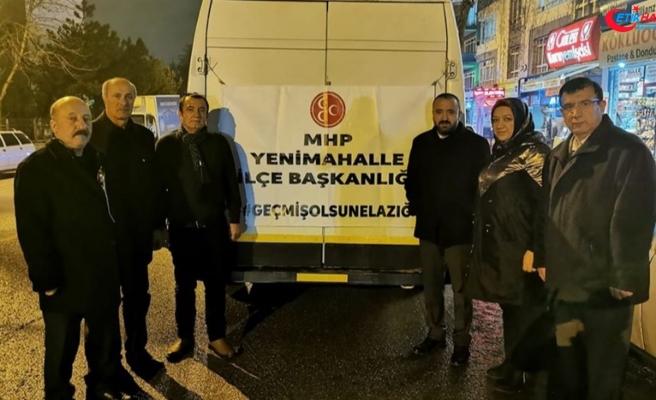 Yenimahalle MHP'den depremzedelere yardım eli