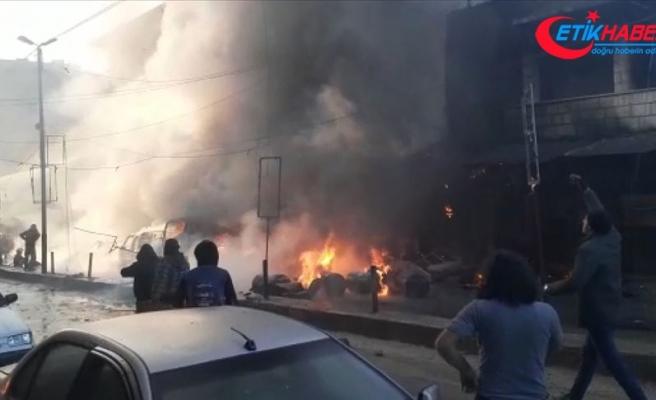 Afrin'de bombalı terör eylemi sivilleri hedef aldı: 4 ölü, 15 yaralı