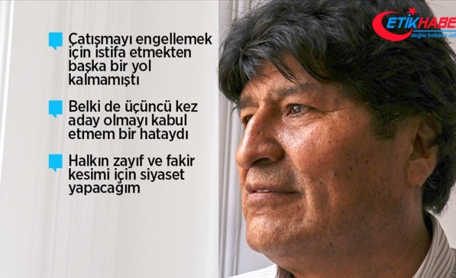 Bolivya'nın eski lideri Morales siyasi sığınmacı olduğu Arjantin'de AA'ya konuştu