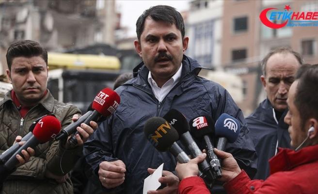 Çevre ve Şehircilik Bakanı Kurum: Elazığ'da kentsel dönüşüm alanlarında 10 gün içinde temel atılacak