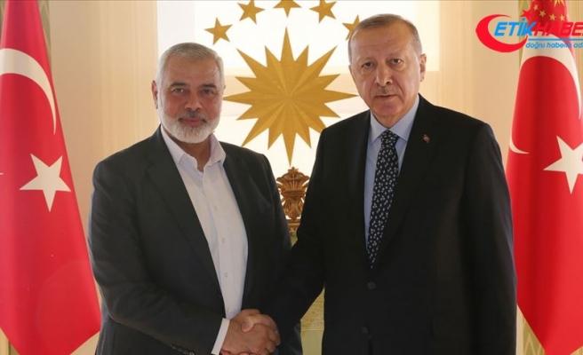 Cumhurbaşkanı Erdoğan'ın Hamas Lideri Heniyye'yi kabulü başladı
