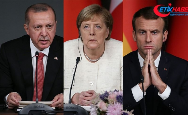 Cumhurbaşkanı Erdoğan, Macron ve Merkel ile telefonda görüştü