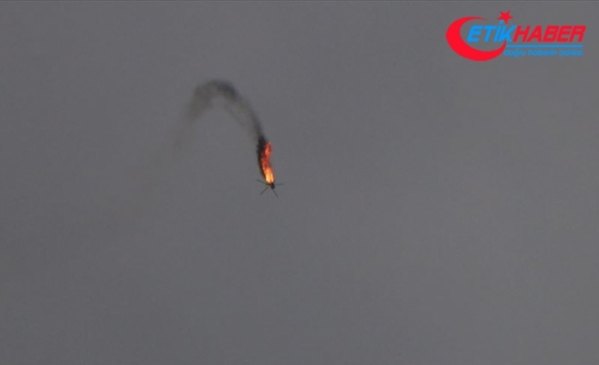 Halep kırsalında Esed rejimine ait helikopter düşürüldü