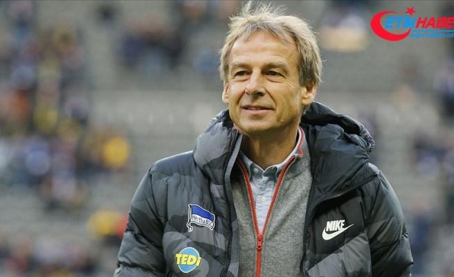 Hertha Berlin'in teknik direktörü Jürgen Klinsmann görevinden istifa etti