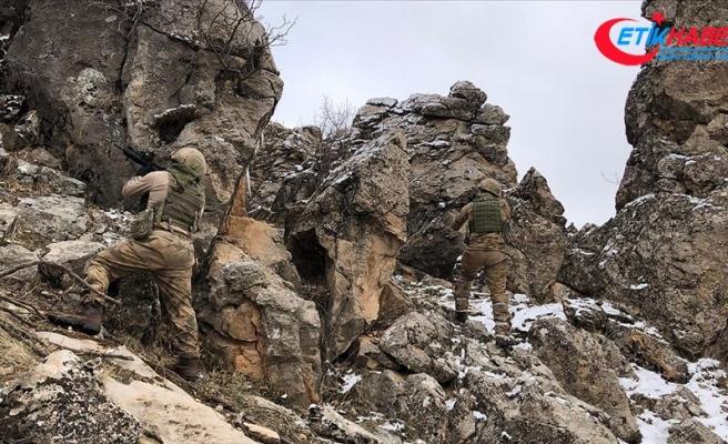 'Kapan-6 Müşterek Operasyonu'nda 10 kış sığınağı imha edildi