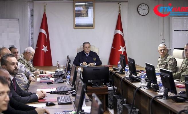 Milli Savunma Bakanı Akar: 54 Rejim hedefi ateş altına alındı, 76 Rejim mensubu etkisiz hale getirildi