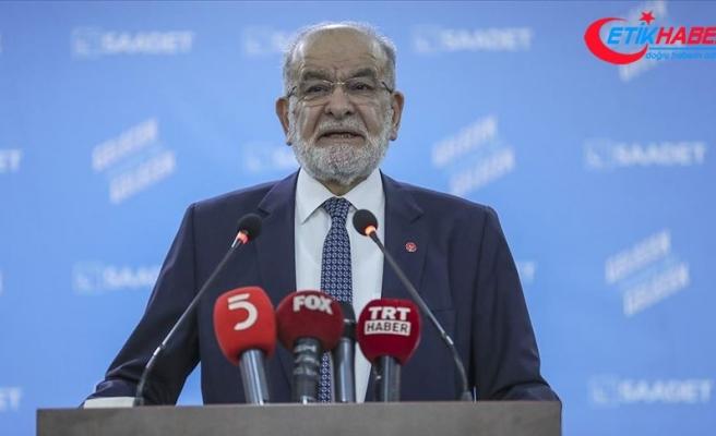 Saadet Partisi Genel Başkanı Karamollaoğlu'ndan Akıncı'ya eleştiri